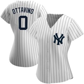 Women's Adam Ottavino New York White Authentic Home Name Baseball Jersey (Unsigned No Brands/Logos)