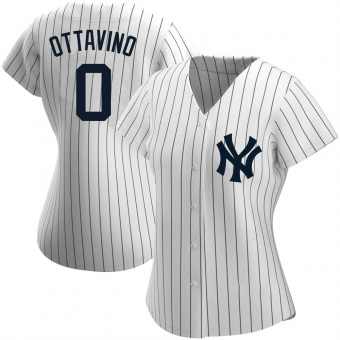 Women's Adam Ottavino New York White Replica Home Name Baseball Jersey (Unsigned No Brands/Logos)