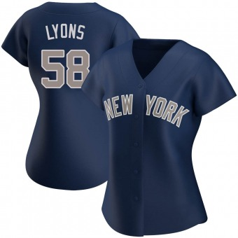 Women's Tyler Lyons New York Navy Replica Alternate Baseball Jersey (Unsigned No Brands/Logos)