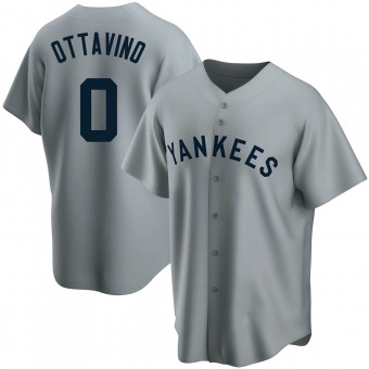 Youth Adam Ottavino New York Gray Replica Road Cooperstown Collection Baseball Jersey (Unsigned No Brands/Logos)
