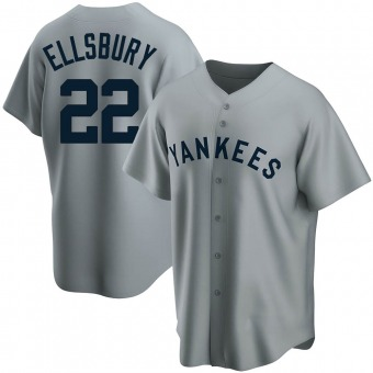 Youth Jacoby Ellsbury New York Gray Replica Road Cooperstown Collection Baseball Jersey (Unsigned No Brands/Logos)