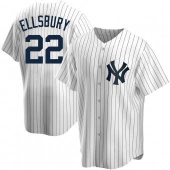 Youth Jacoby Ellsbury New York White Replica Home Baseball Jersey (Unsigned No Brands/Logos)